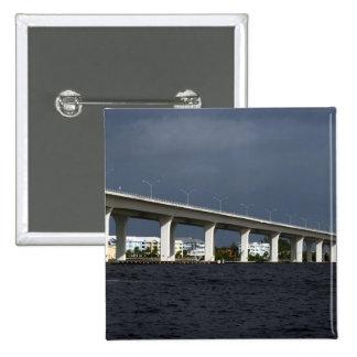 Foto de la Florida de la playa de Jensen del puent Pin Cuadrada 5 Cm