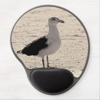 Foto de la gaviota en la playa de Coney Island Alfombrillas De Ratón Con Gel