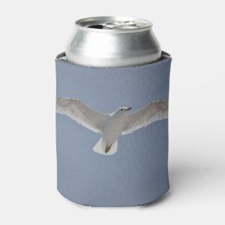 Foto de la gaviota en refrigerador de la bebida enfriador de latas