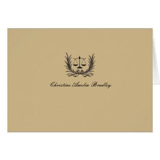 Foto de la guirnalda de la justicia personal. tarjeta pequeña