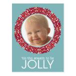 Foto de la guirnalda del navidad tarjeta postal