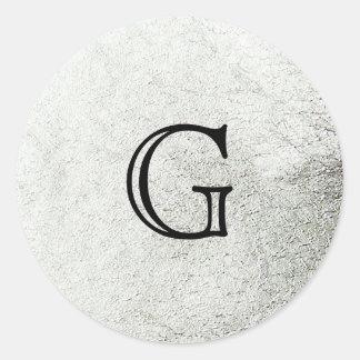 Foto de la hoja de plata pegatina redonda