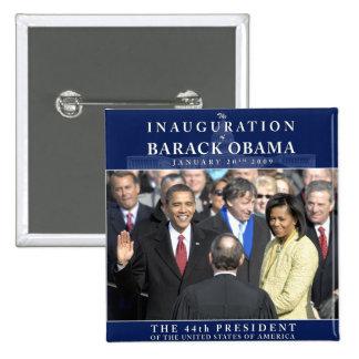 Foto de la inauguración de Obama Pin Cuadrado