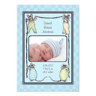 Foto de la invitación del nacimiento del bebé del invitación 12,7 x 17,8 cm