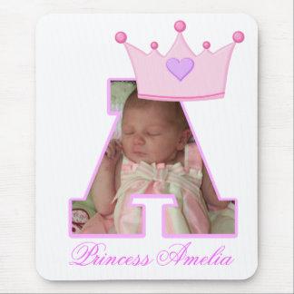 Foto de la letra A y corona personalizadas de la Tapete De Raton
