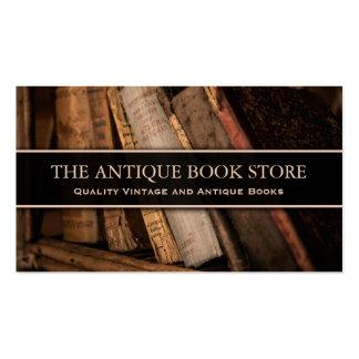 Foto de la librería de la antigüedad/del vintage - tarjetas de visita