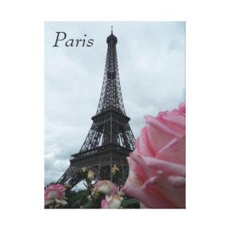 Foto de la lona de los rosas de París Francia de l Lienzo Envuelto Para Galerias