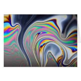Foto de la macro de la burbuja de jabón tarjeta