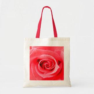 Foto de la macro del rosa rojo bolsa lienzo