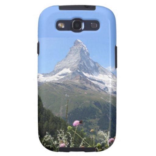 Foto de la montaña de Cervino Galaxy S3 Carcasas