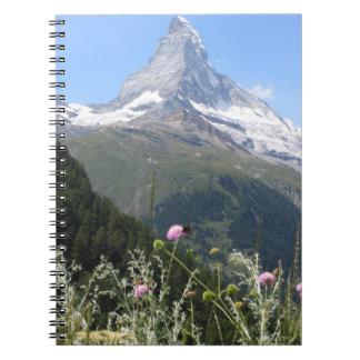 Foto de la montaña de Cervino Libreta