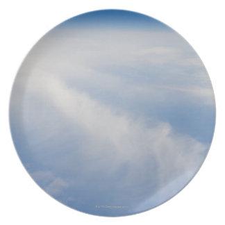 Foto de la mucha altitud de la tierra 2 platos para fiestas