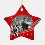 Foto de la música del saxofón ornamento para arbol de navidad