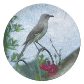 Foto de la naturaleza animal del Mockingbird de lo Platos