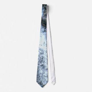 Foto de la naturaleza de la cascada de la montaña  corbata personalizada