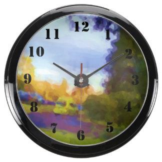 Foto de la naturaleza y del coche relojes aqua clock