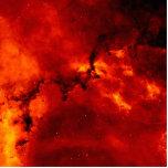 Foto de la nebulosa del rosetón escultura fotografica