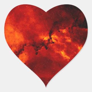 Foto de la nebulosa del rosetón pegatina en forma de corazón