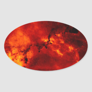 Foto de la nebulosa del rosetón pegatina ovalada
