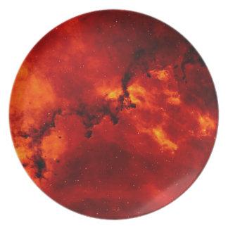 Foto de la nebulosa del rosetón plato de cena