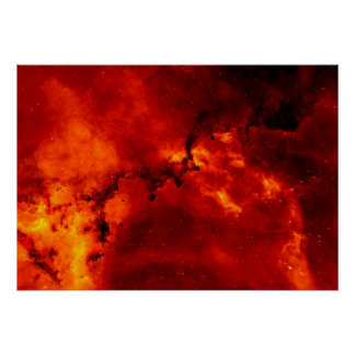 Foto de la nebulosa del rosetón póster