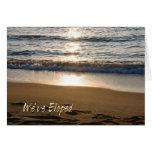 Foto de la onda tenemos tarjeta Eloped de la invit