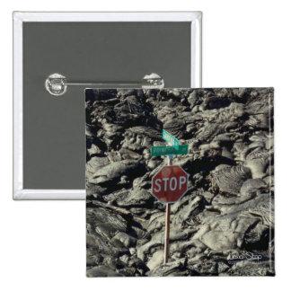 Foto de la parada de la lava pin cuadrado