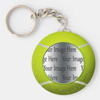 foto de la pelota de tenis llavero redondo tipo pin