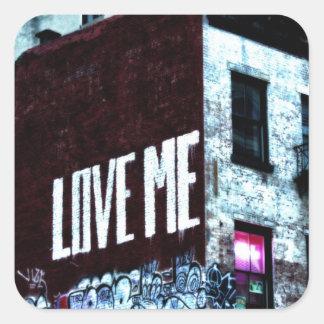 Foto de la pintada de la calle de New York City Pegatinas Cuadradases Personalizadas