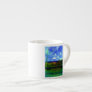 Foto de la pintura de la naturaleza del camino taza espresso