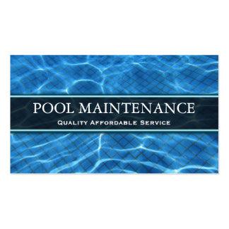 Foto de la piscina - tarjeta de visita