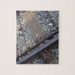 foto de la pista de ferrocarril del vintage puzzle