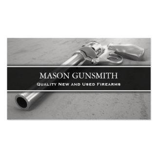 Foto de la pistola - escopetero - tarjeta de tarjetas de visita