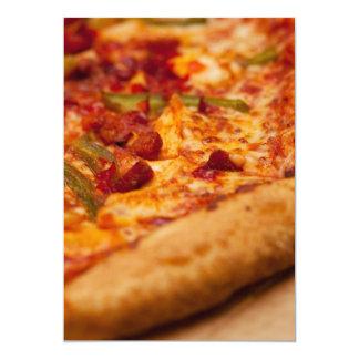 Foto de la pizza invitación 12,7 x 17,8 cm