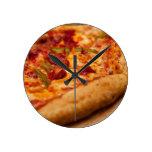 Foto de la pizza reloj de pared