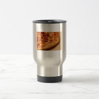 Foto de la pizza tazas de café