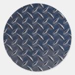 Foto de la placa del diamante etiqueta redonda