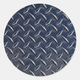 Foto de la placa del diamante pegatina redonda