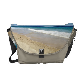 Foto de la playa bolsa de mensajería