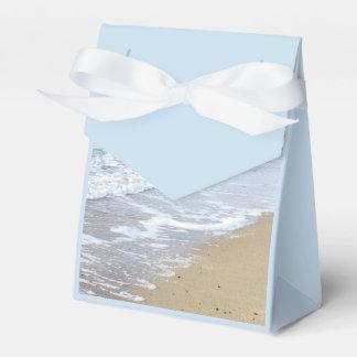 Foto de la playa cajas para detalles de boda