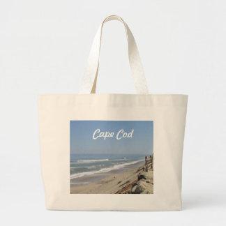 Foto de la playa de Cape Cod Bolsa Tela Grande