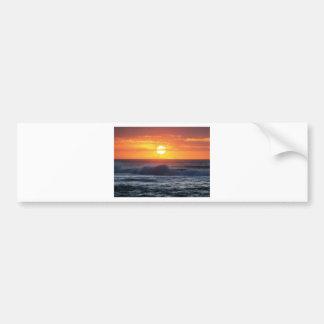 Foto de la playa de la puesta del sol por el poder pegatina para auto