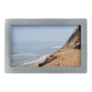 Foto de la playa del océano hebillas cinturon rectangulares