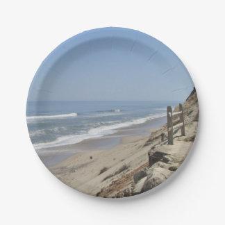 Foto de la playa plato de papel de 7 pulgadas