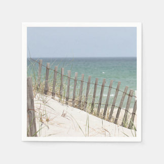 Foto de la playa servilletas de papel