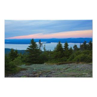 Foto de la puesta del sol de la montaña de fotografía