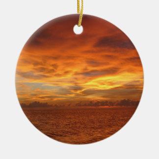"""Foto de la puesta del sol de la playa del """"cielo p adorno para reyes"""