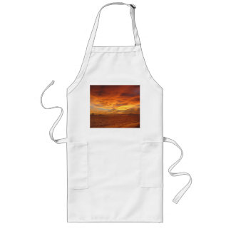 """Foto de la puesta del sol de la playa del """"cielo p delantal largo"""