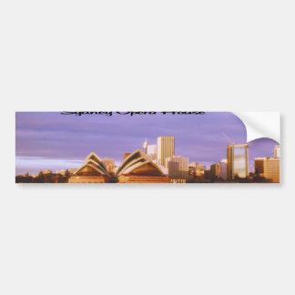 Foto de la puesta del sol del teatro de la ópera d pegatina de parachoque
