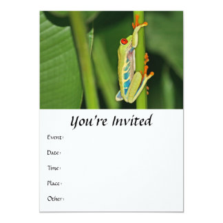 """Foto de la rana arbórea invitación 5"""" x 7"""""""